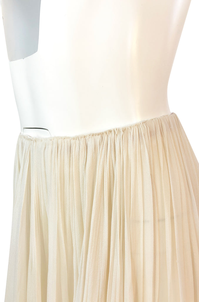 Recent Maria Lucia Hohan Ivory Silk Chiffon Trained Maxi Skirt