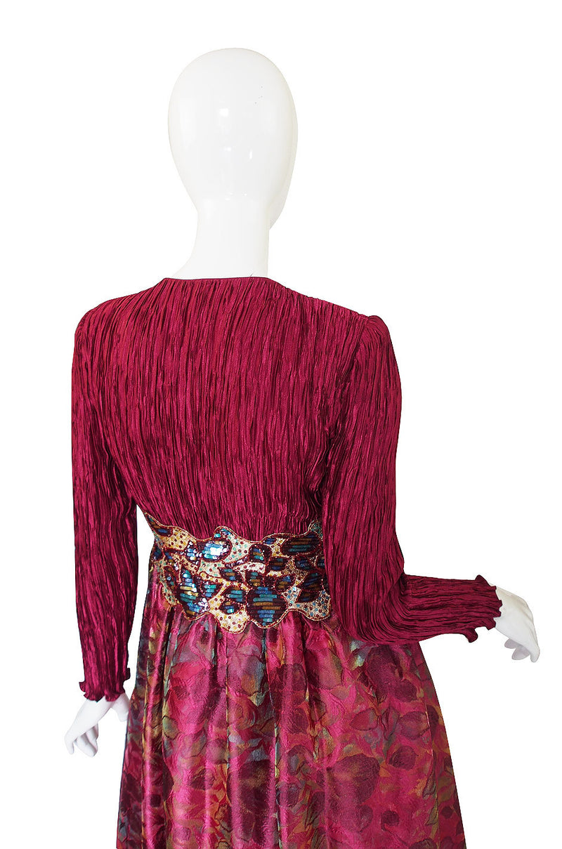 1980s Mary MacFadden Couture Sequin Gown