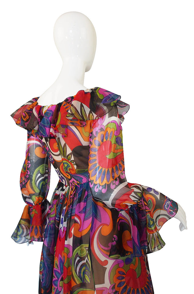 1960s Silk Oscar de la Renta Dress