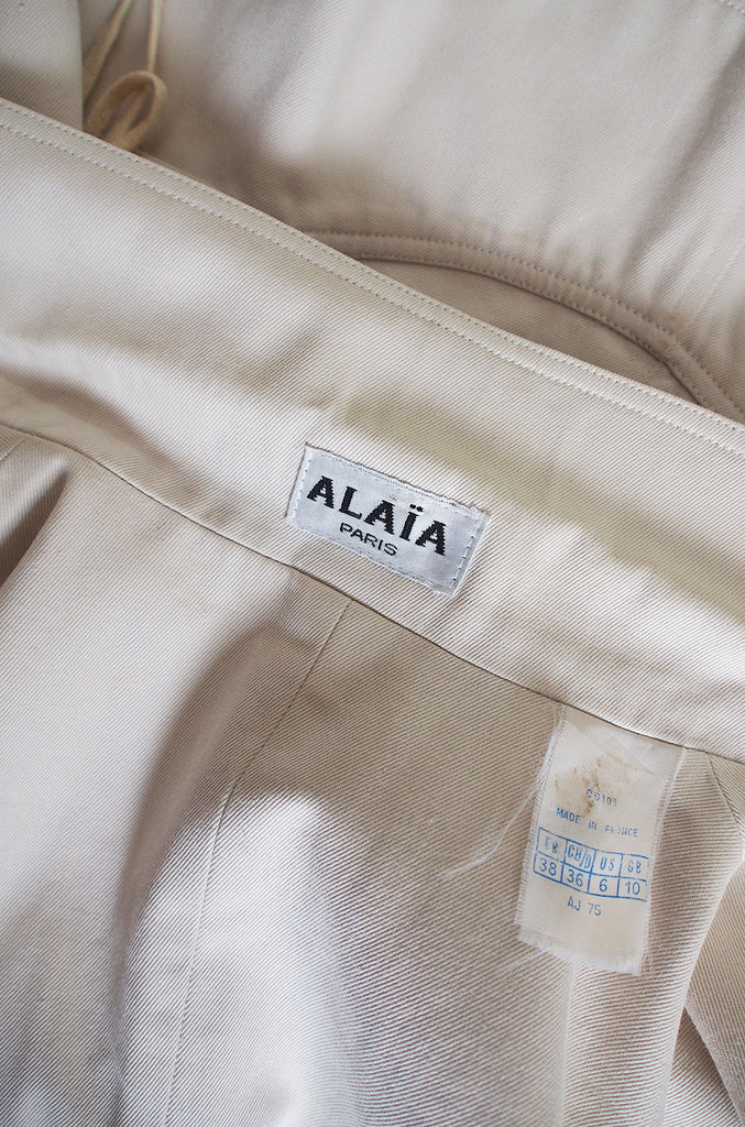 "1990s Azzedine Alaia Side Corset Tied ""Safari"" Jacket"