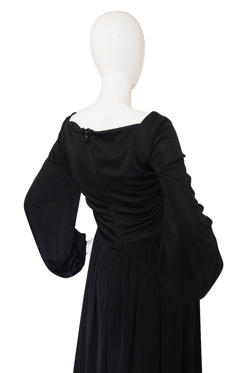 1970s Robert David-Morton Balloon Sleeve Dress