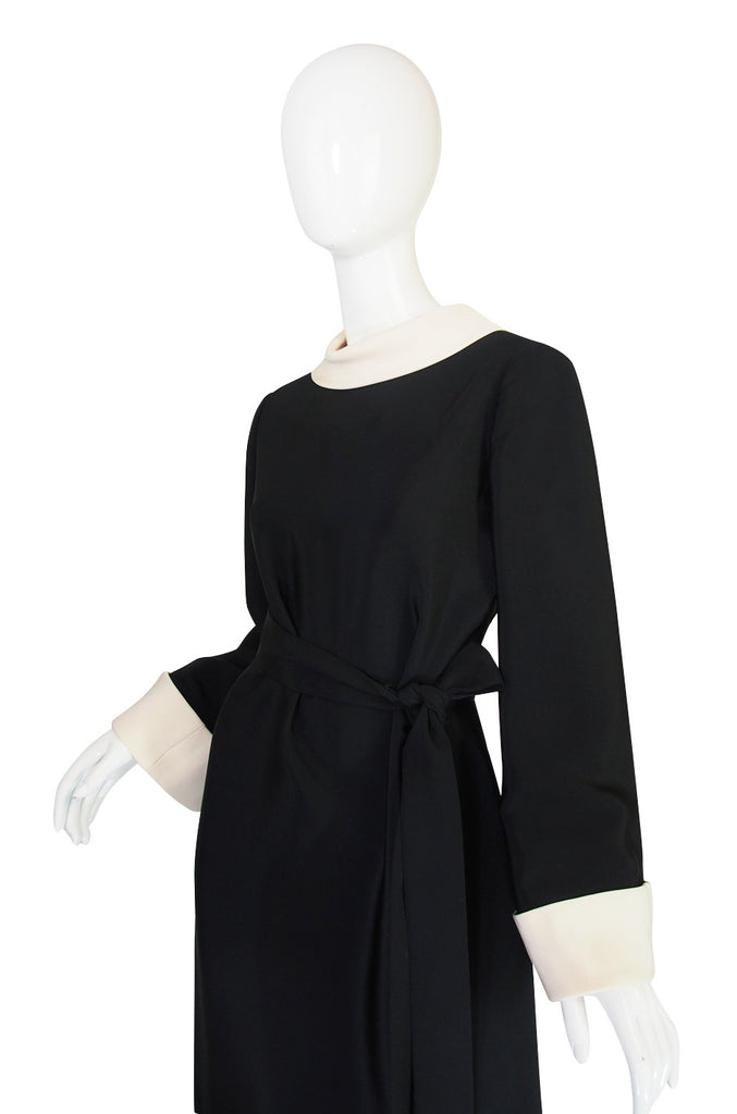 1960s Norman Norell with Removable Collar & Cuffs