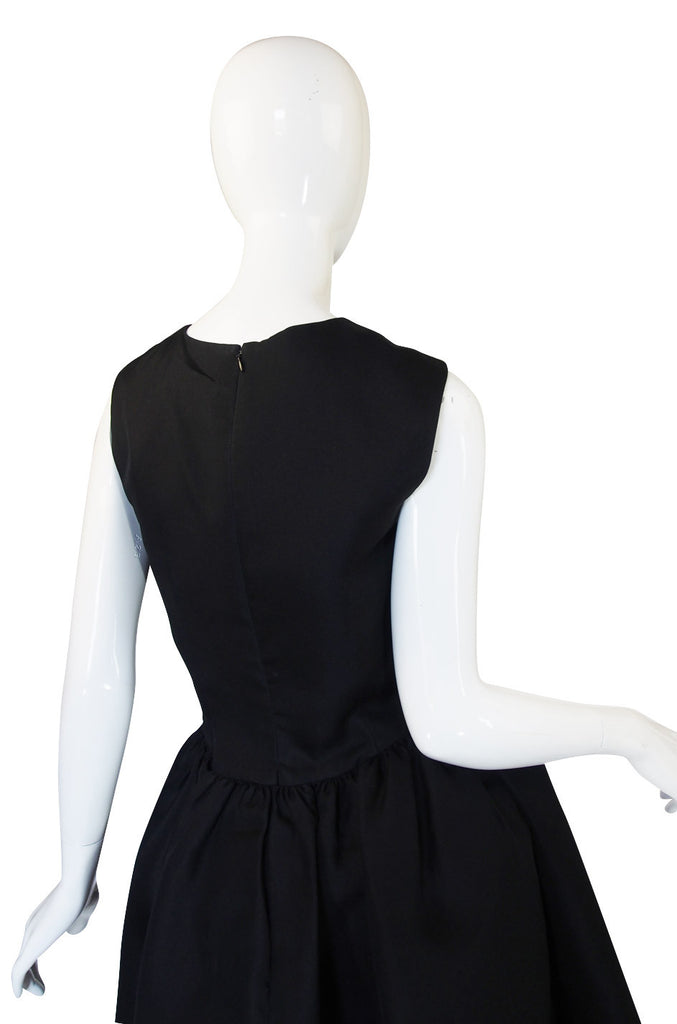1970s Bill Blass Cut Out Cocktail Dress