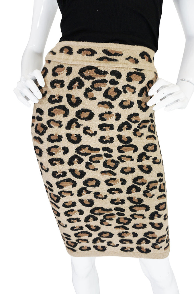 Rare 1991 Collection Azzedine Alaia Leopard Skirt