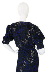 1971 Yves Saint Laurent Silk Wrap Dress