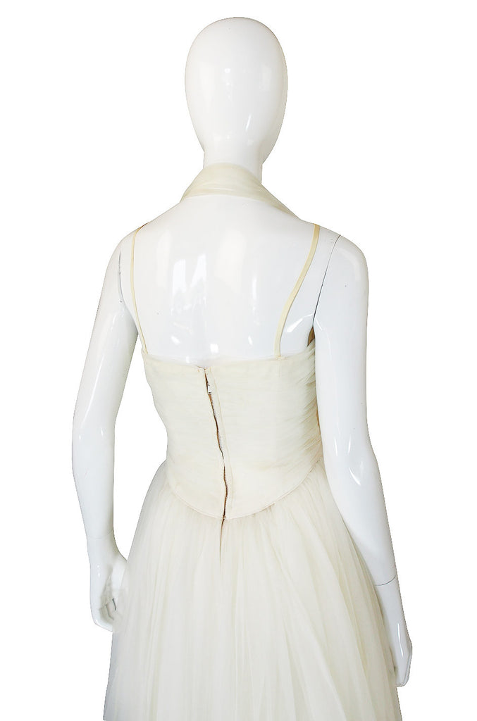 1950s Emma Domb Chiffon Net Dress