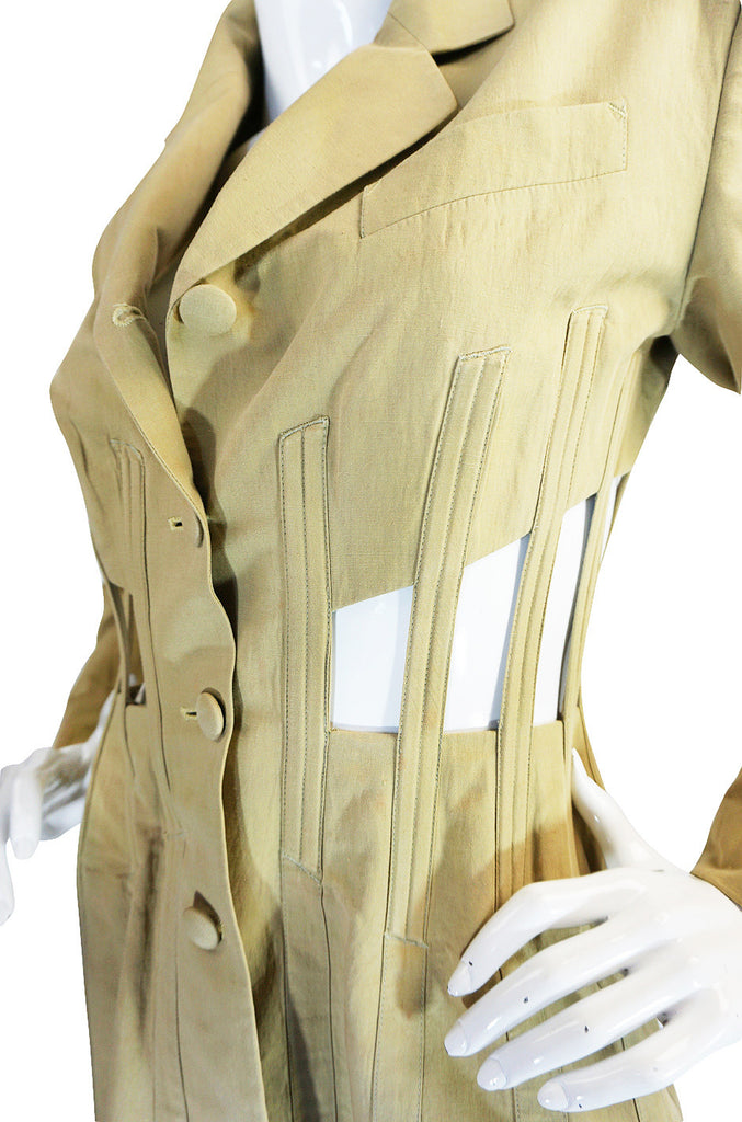 1990s Jean Paul Gaultier Cut Out Corset or Cage Jacket