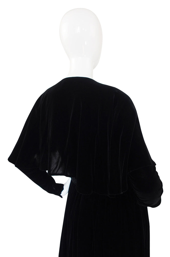1990s Calvin Klein Velvet Wrap Top & Skirt