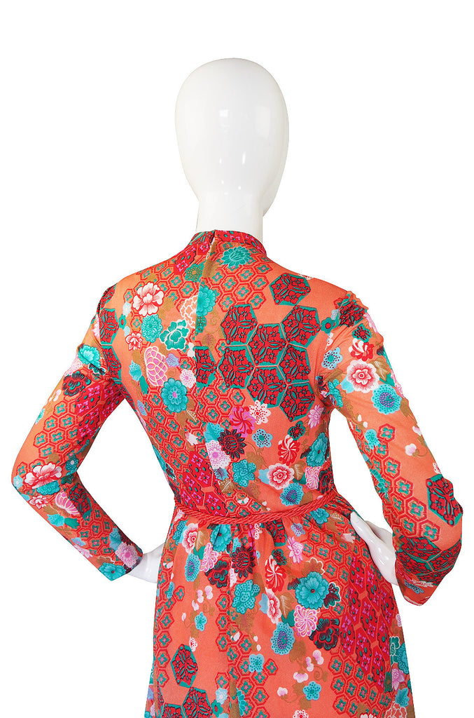 1960s Adele Simpson Pretty Print Dress