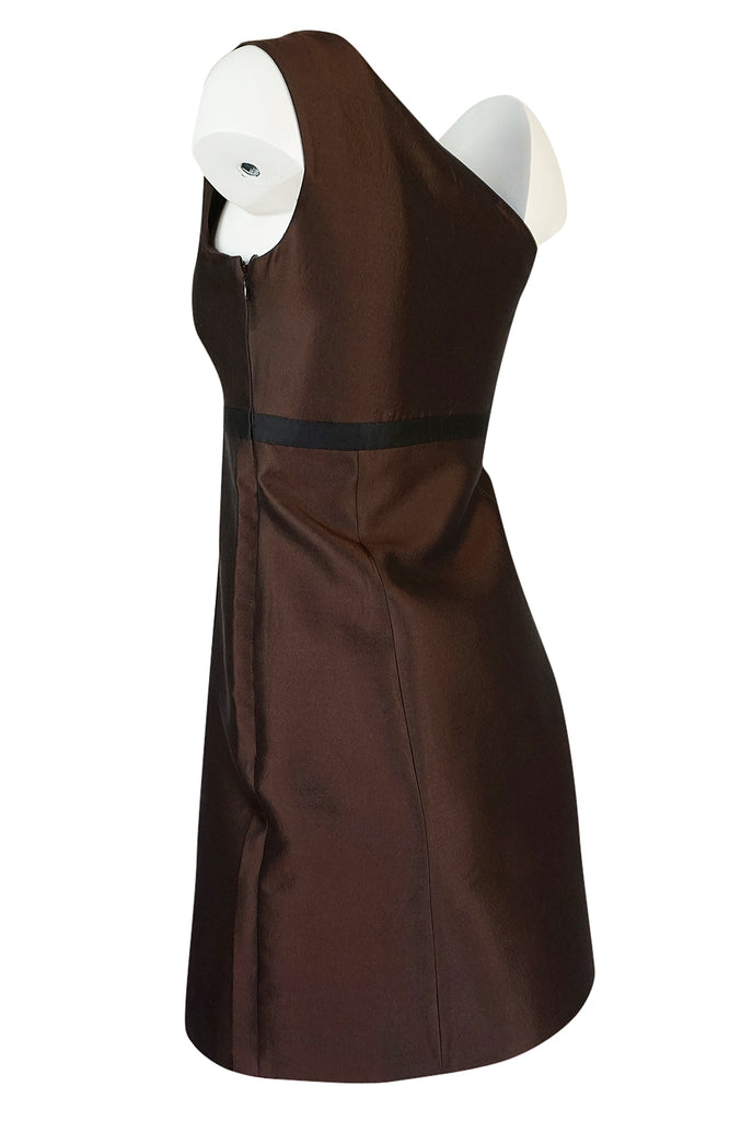 S/S 2005 Prada Runway Look 48 One Shoulder Embellished Silk Dress