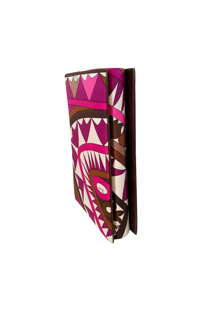 1960s Emilio Pucci Silk Print Clutch Bag w Removable Handle