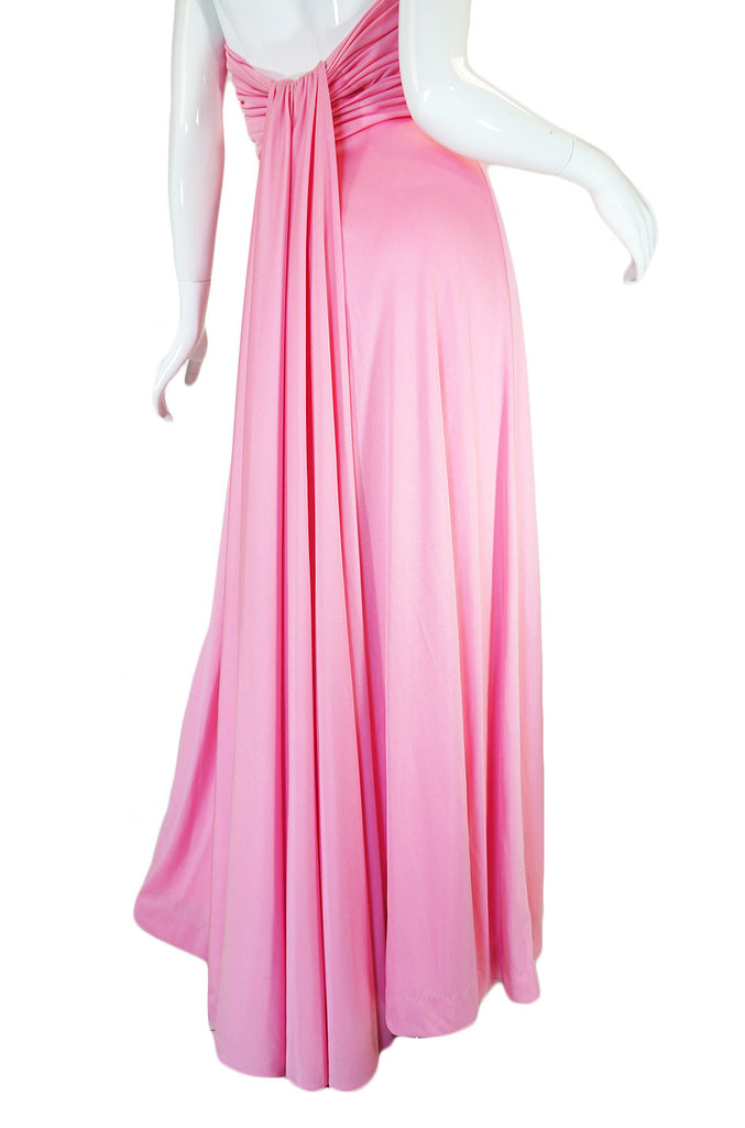 Treasure Item - 1970s Estevez Pink Jersey Strapless Dress