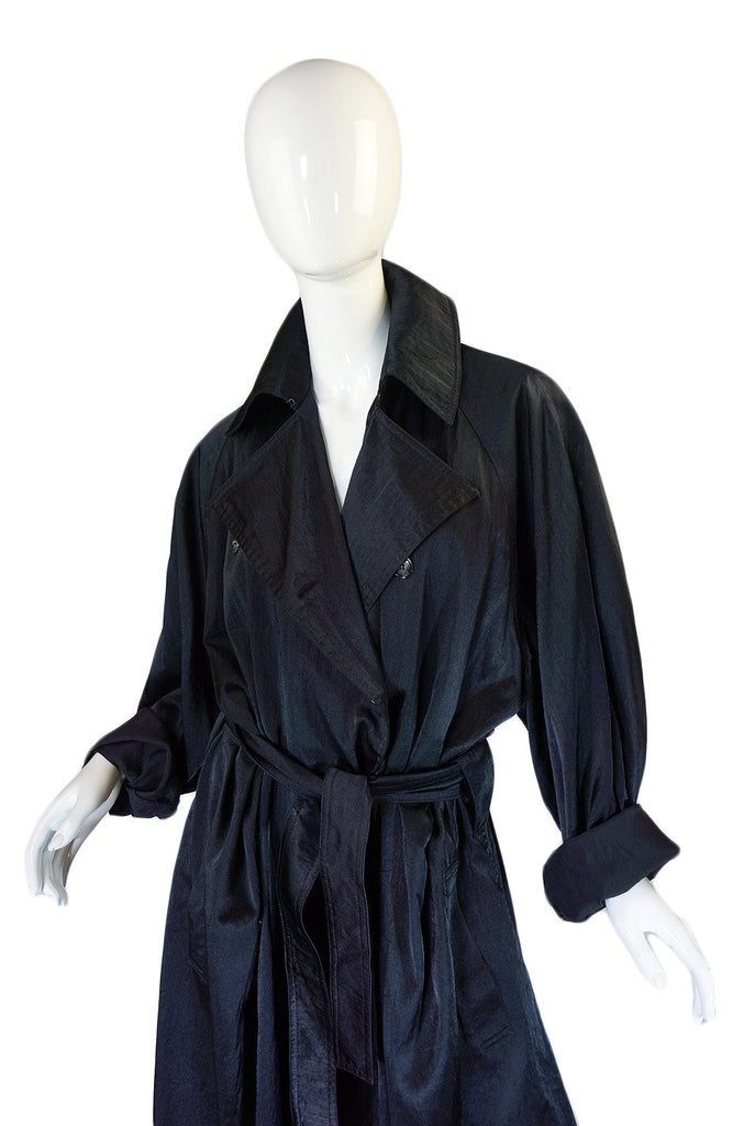1980s Alaia Over-Size Black Trench Coat