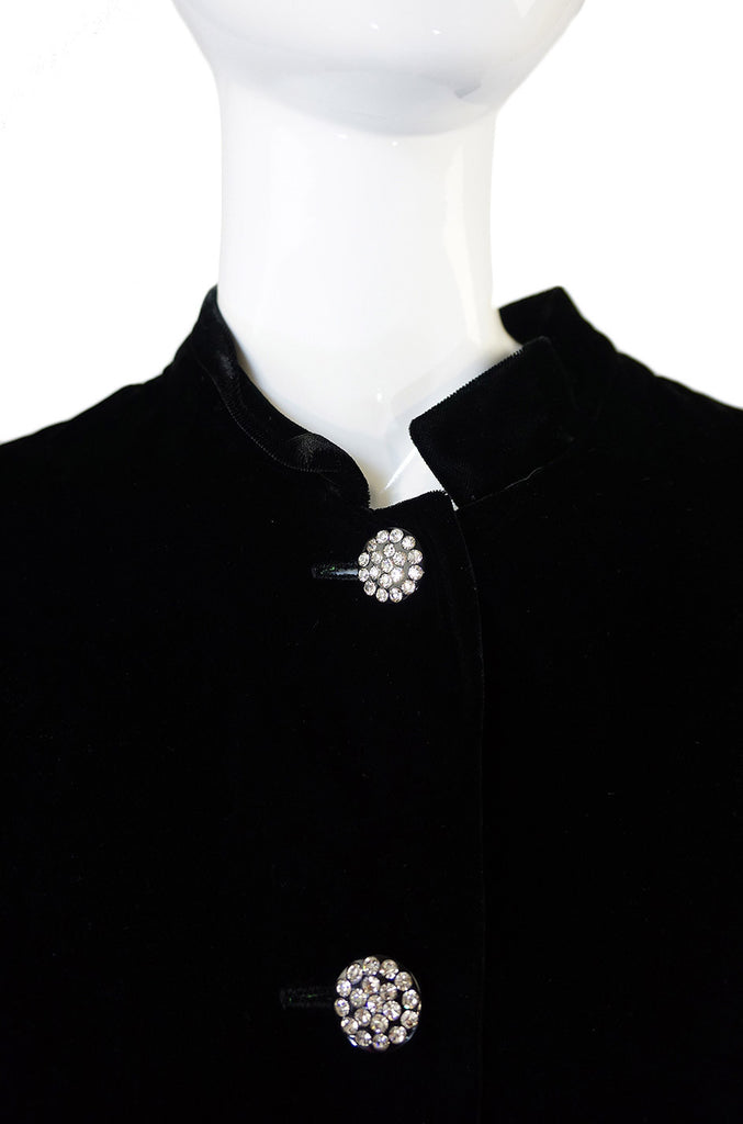 1960s Velvet & Rhinestone Great Coat