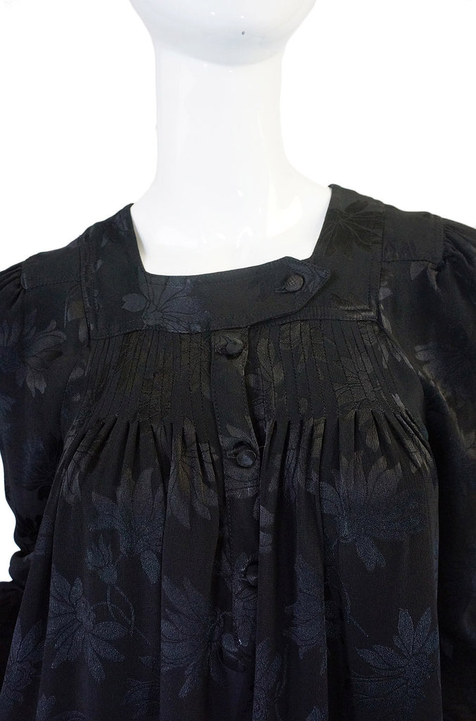 1971 Ossie Clark Silk Smock Dress