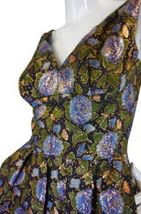 1960s Metallic Silk Brocade Pat Sandler