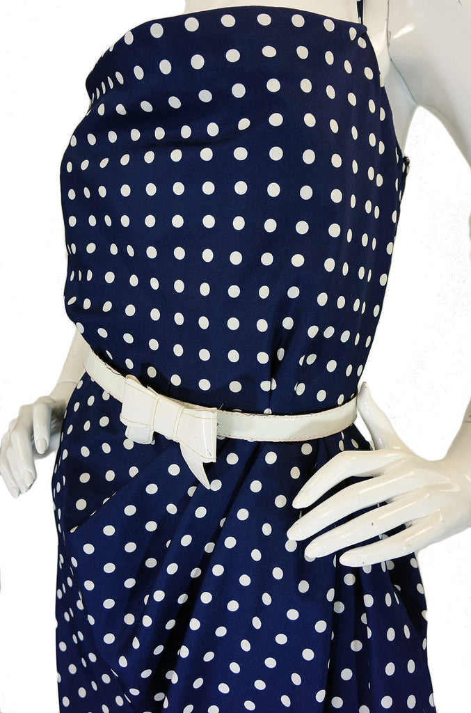 1980s Dotted Victor Costa Wiggle Dress
