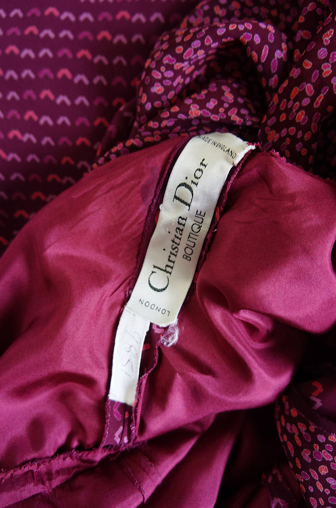 F/W 1970 Christian Dior Numbered Maxi