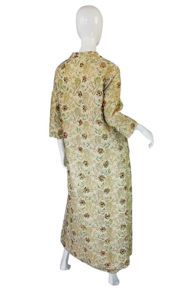 1950s Full Beaded Nat Allen Gown & Coat