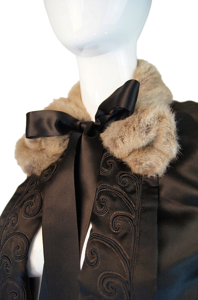 Edwardian Highly Detailed Silk Coat