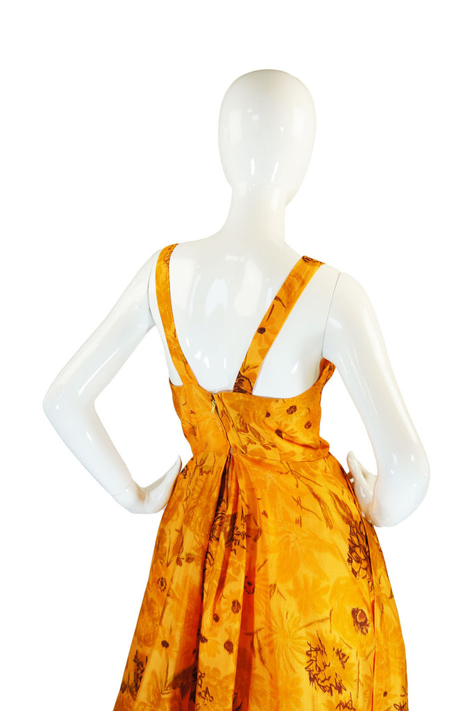 1950s Draped Silk Suzy Perette Dress