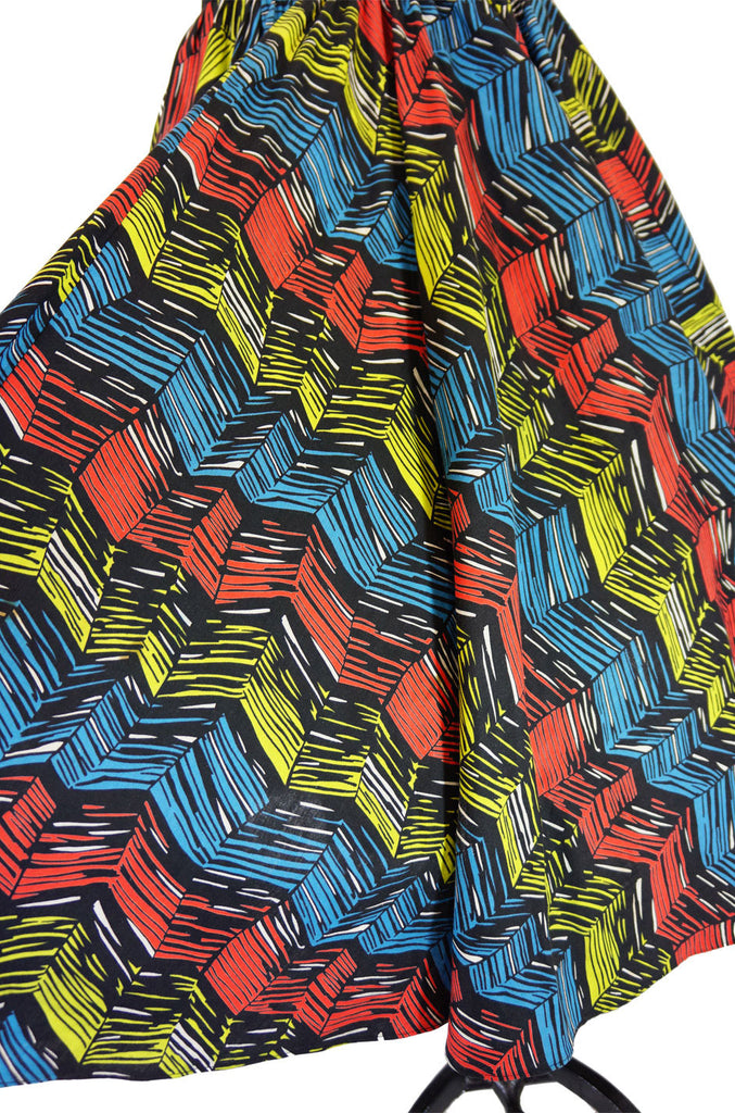 1950s Multi Colour Cotton Circle Skirt