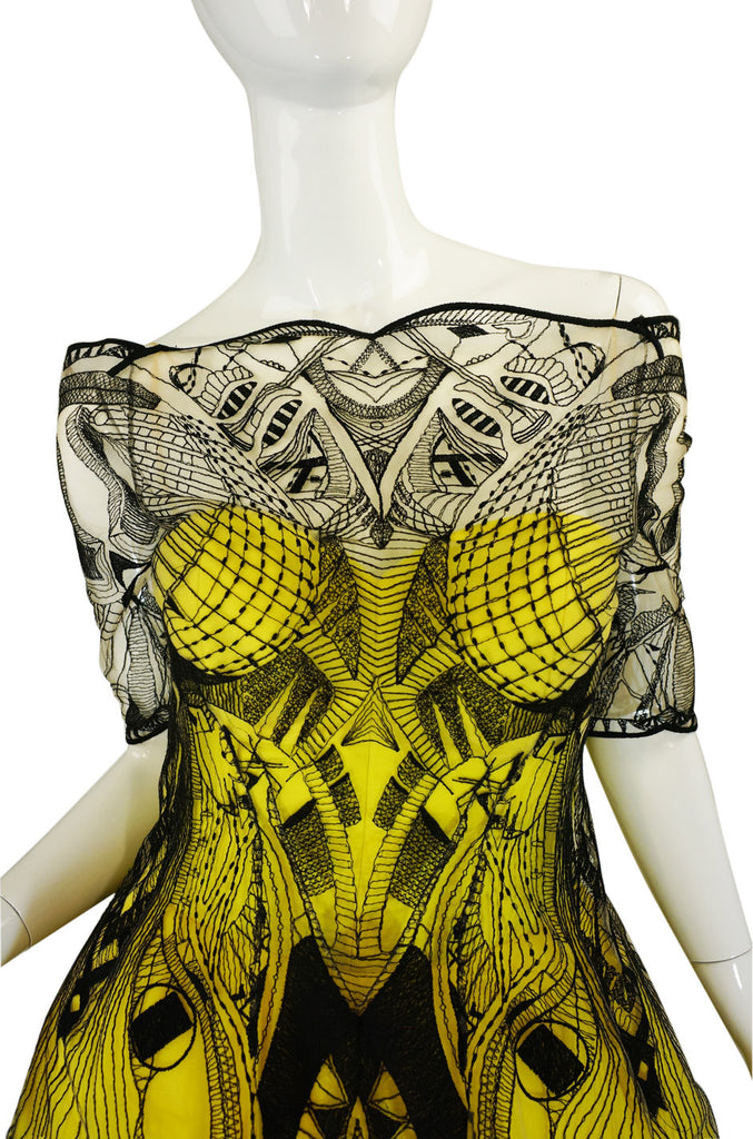 R2010 Alexander McQueen Tattoo Dress