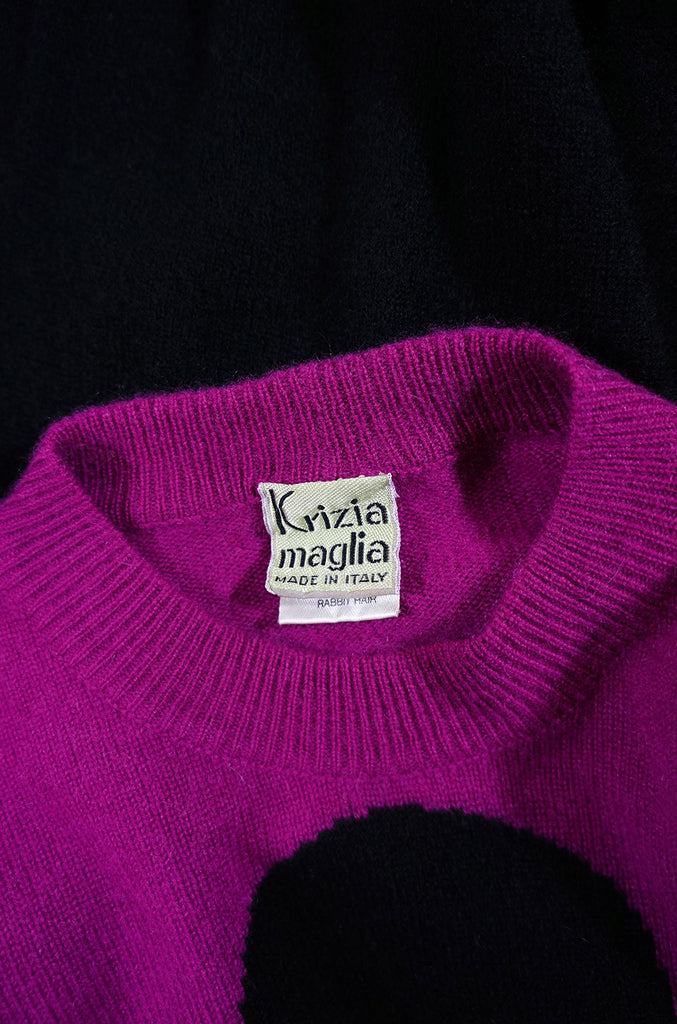 1990s Iconic Krizia Top Hat Sweater