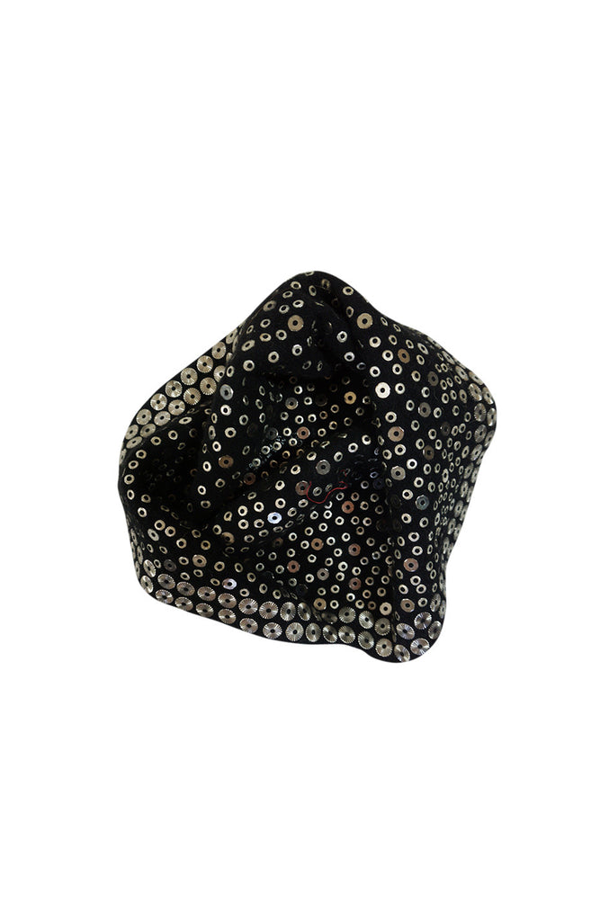 1960s Dorothy McGuire Owned Rhinestone Studded Black Cloche