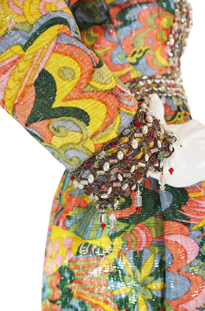 1968 Bergdorf's Heavily Beaded Hostess Gown