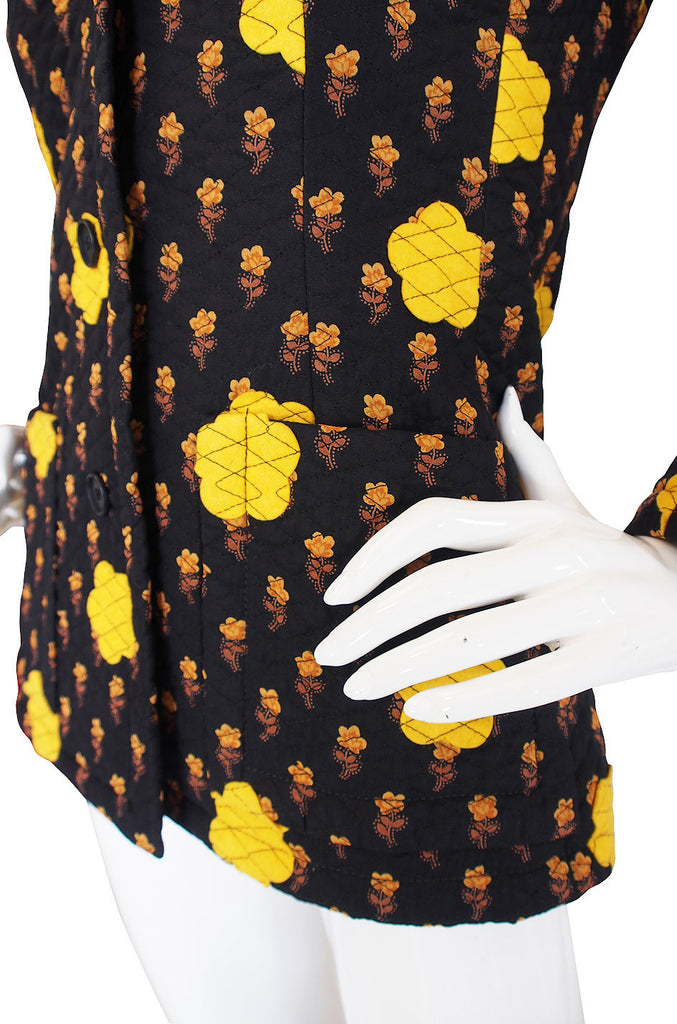 1970s Givenchy Felt Applique Jacket