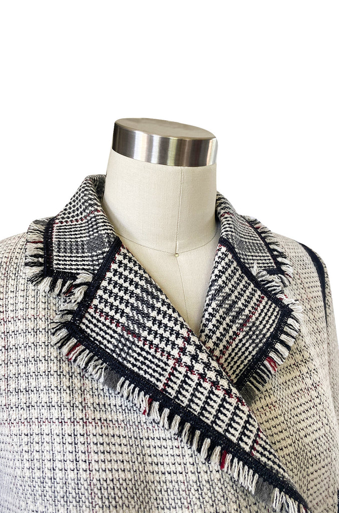 Recent Louis Vuitton Fringe Edging Detailed Wool 'Blanket' Jacket
