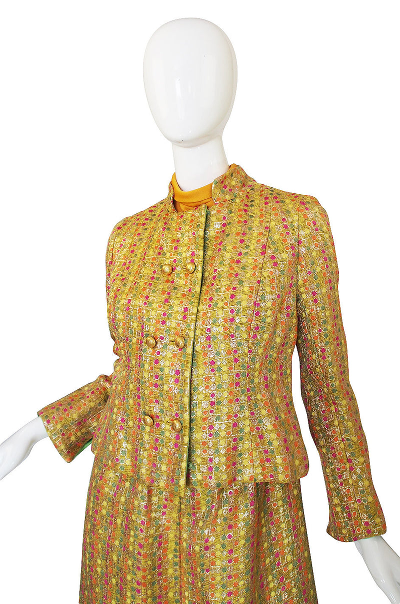 1960s Maggy Reeves Custom Metallic Suit