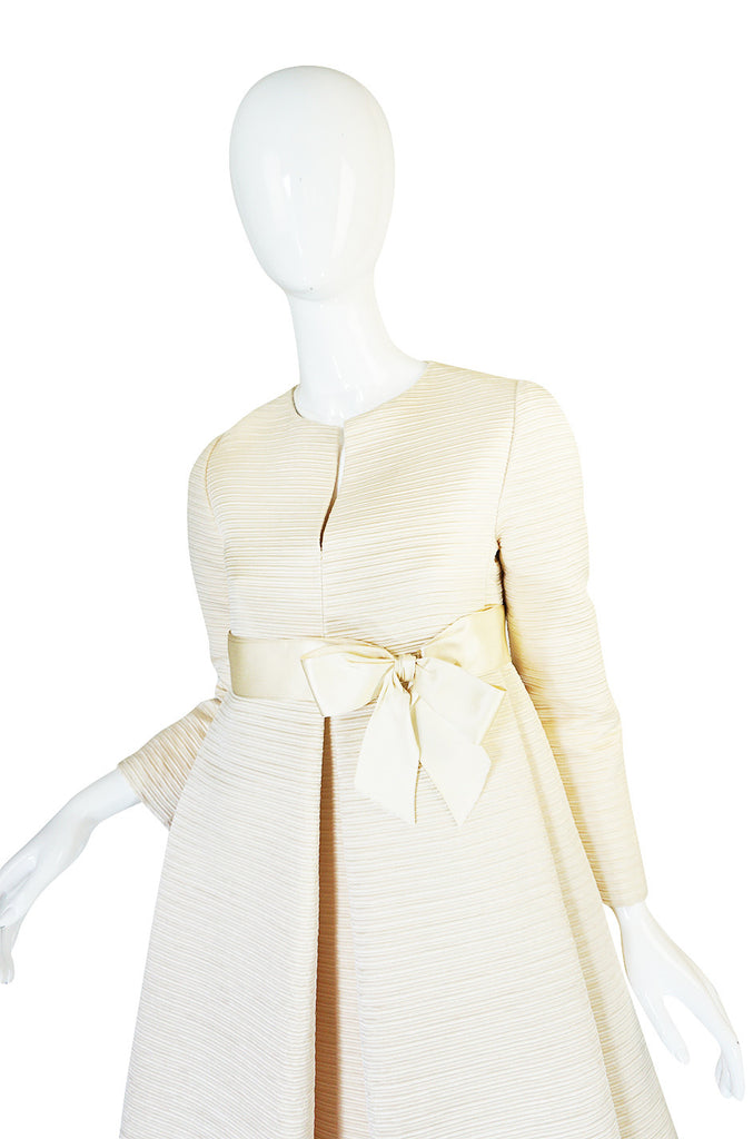 1960s Couture Gustave Tassell Pleated Silk Dress