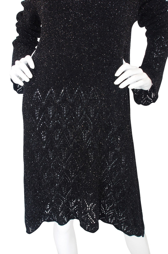 1997 Dries Van Noten Metallic Sweater Dress