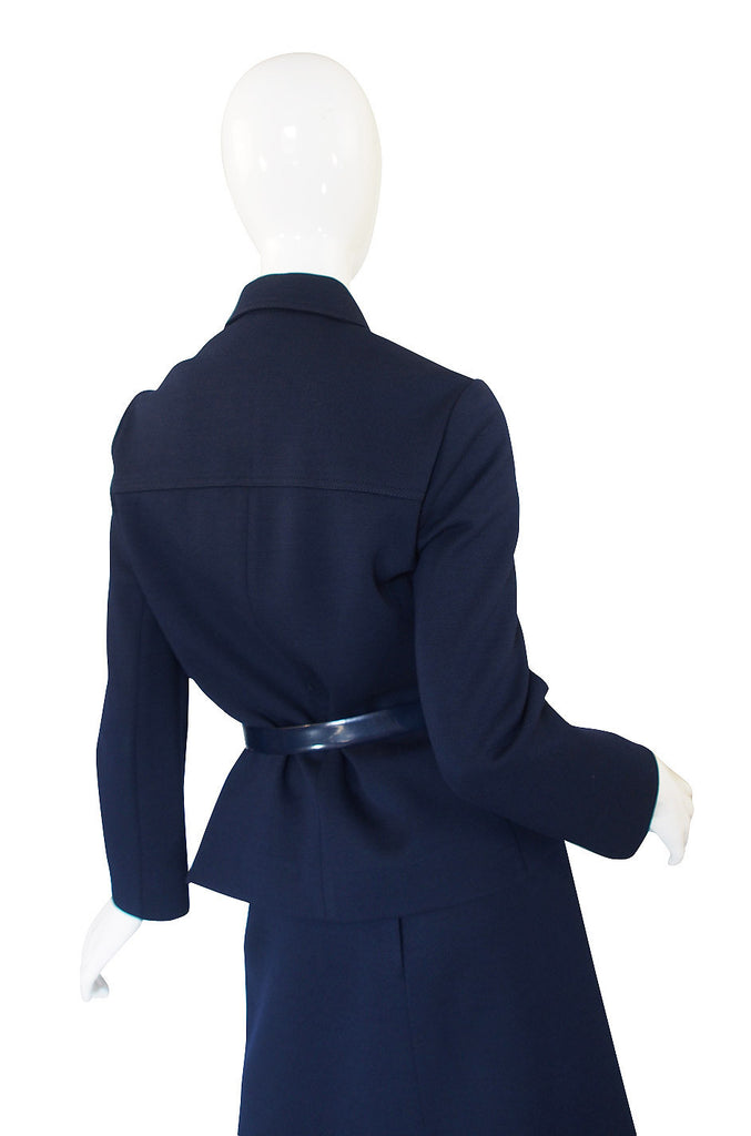 1960s Miss Dior Deep Blue Structured Suit