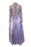 c.1968 George Halley Couture Crystal, Bead & Rhinestone Silk & Lace Dress
