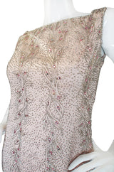 1960s Pink Beaded Malcolm Starr Dress
