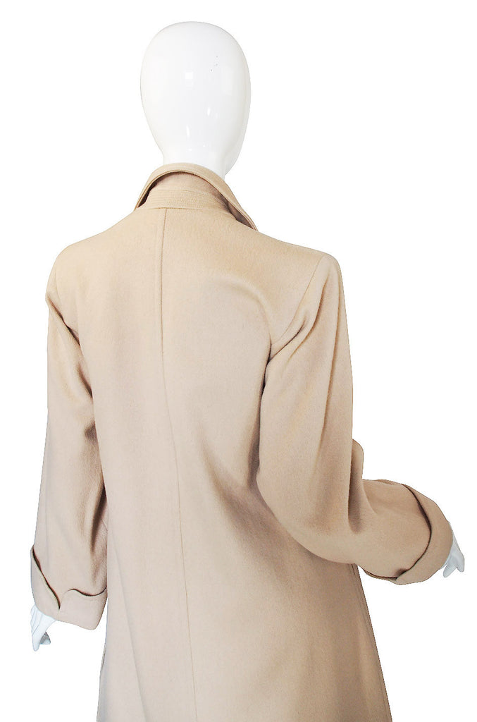 1970s Yves Saint Laurent Cream Coat