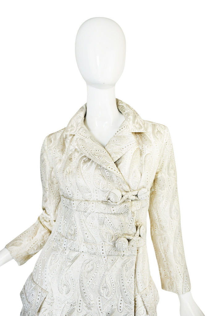 Fall 1961 Silk Brocade Christian Dior Silk Numbered Coat