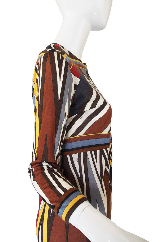 1960s Emilio Pucci Fine Silk & Cashmere Dress