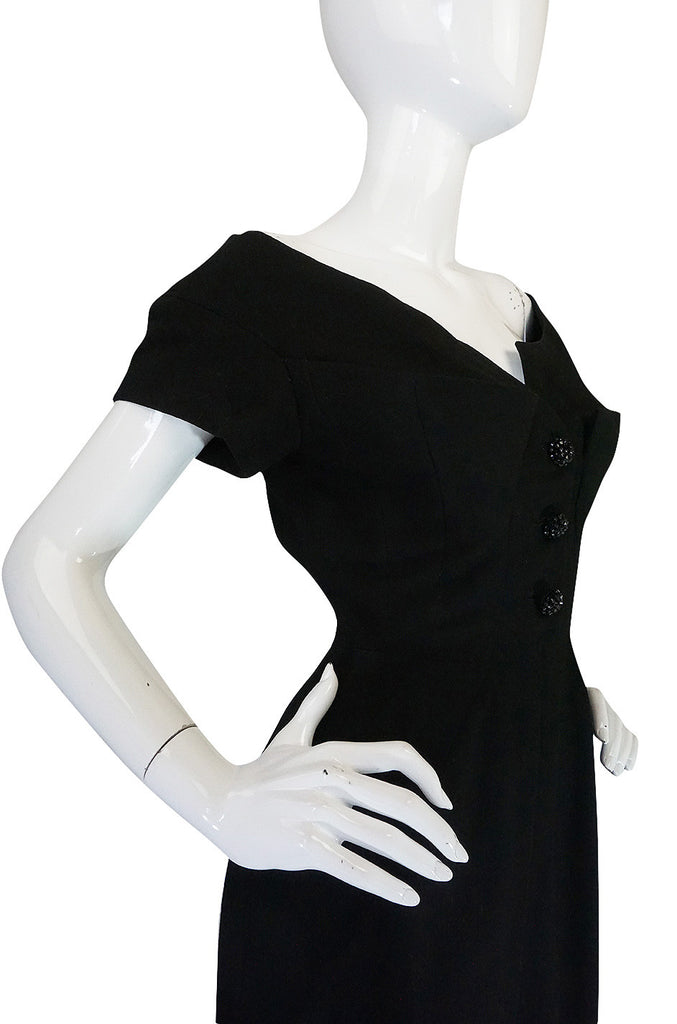 Exceptional 1950s Haute Couture Maggy Rouff Dress