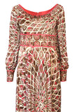 Extraordinary 1960s Emilio Pucci Silk Jersey Intricate Swirl Print Dress
