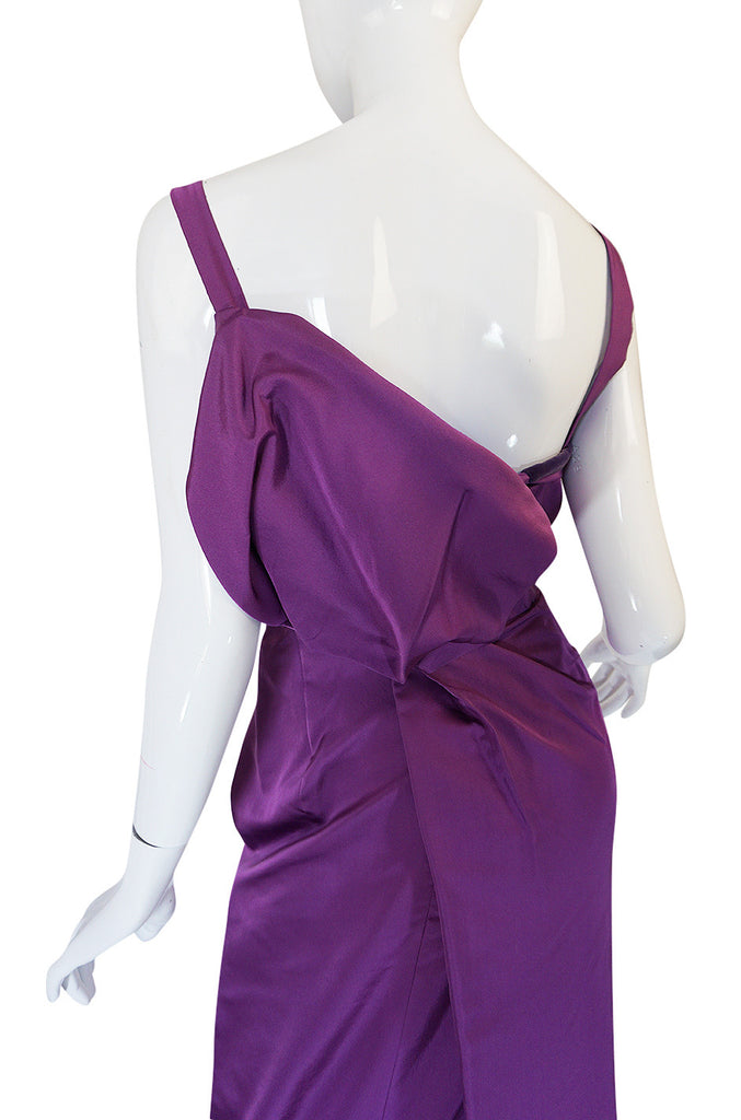 "c1953 Travilla ""Gentlemen Prefer Blondes"" Purple Silk Dress"