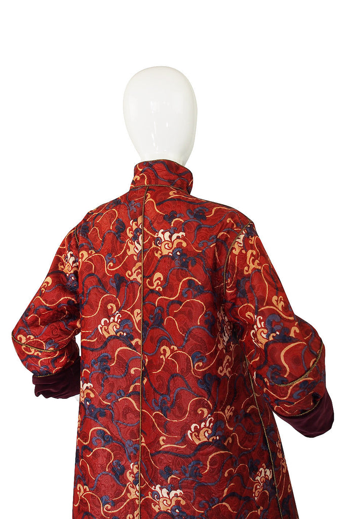 Documented 1993 Yves Saint Laurent Silk Coat
