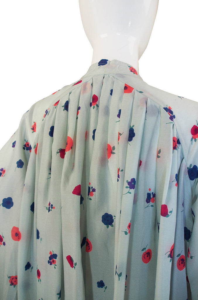 1970s Jean Varon Silk Balloon Sack Dress or Coat