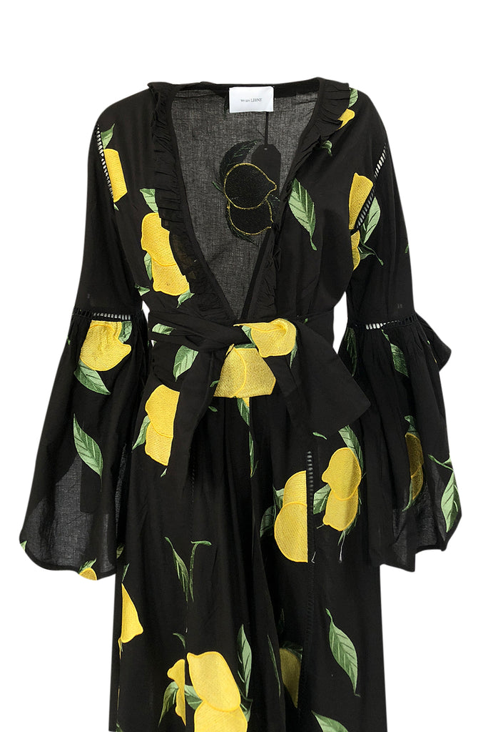 "Recent We Are Leone ""Amalfi Lemon"" Wrap Dress Kimono Cover Up"