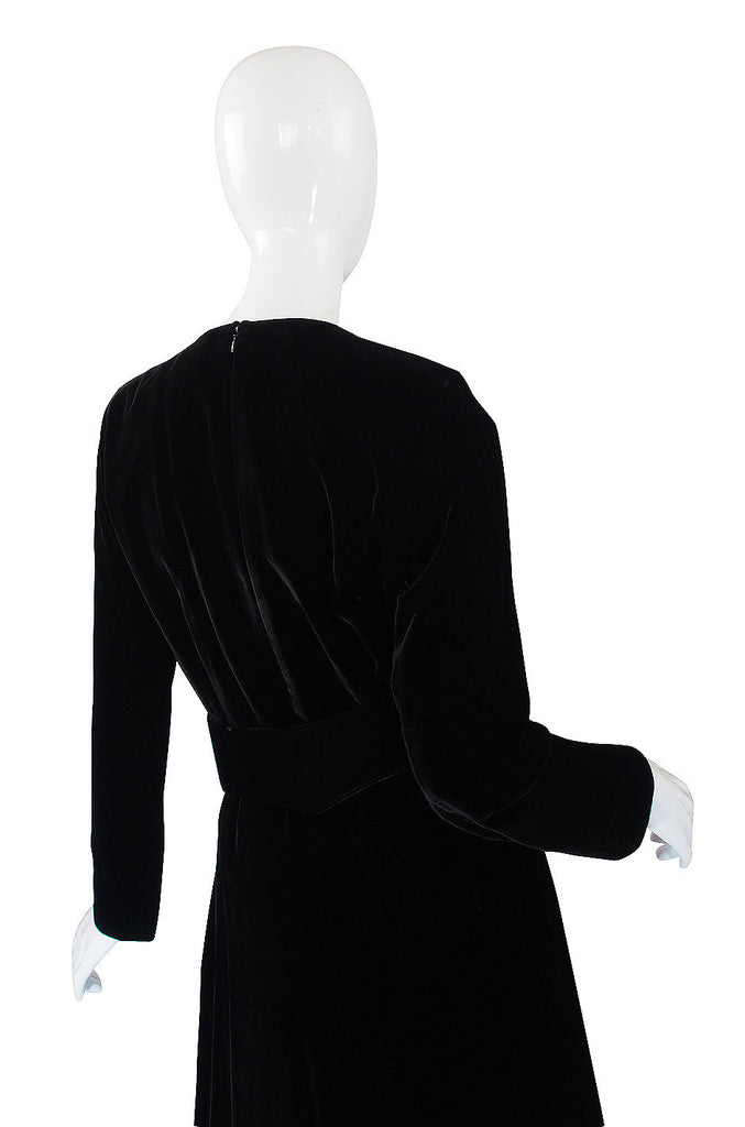 1970s Yves Saint Laurent Velvet Gown & Belt