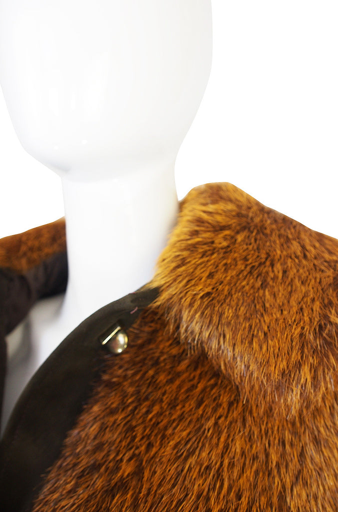 Now On Sale - 1970s Dyed Beaver Fur & Suede Turn Key Jacket