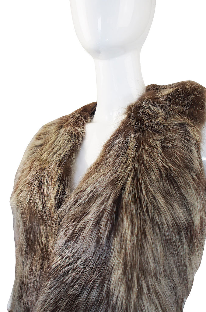 Now On Sale - 1970s Hippie Chic Racoon Fur Vest